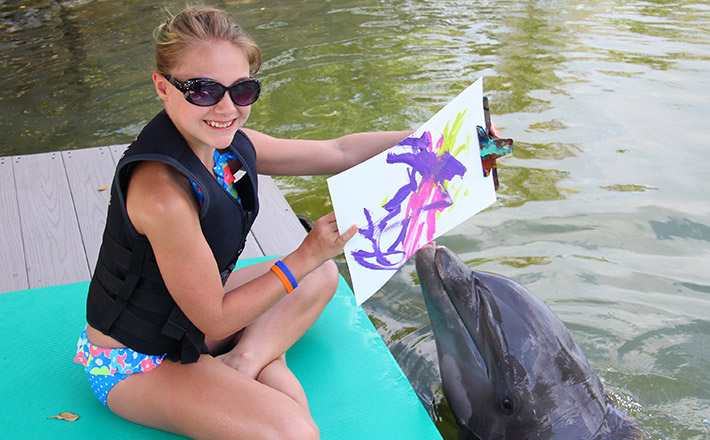 Painting with a dolphin artwork