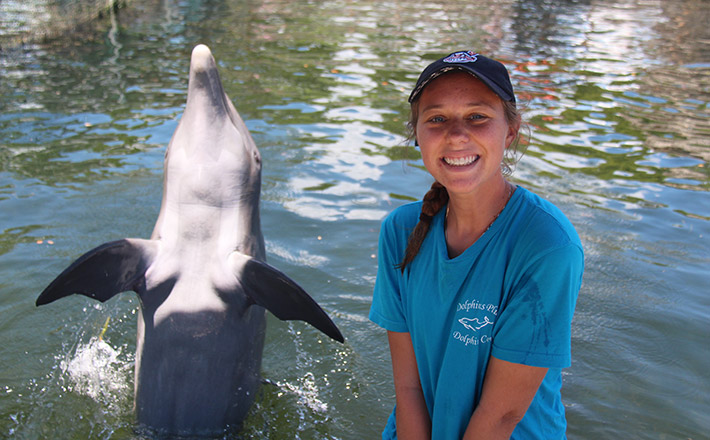 Dolphins Plus dolphin animal care internship program