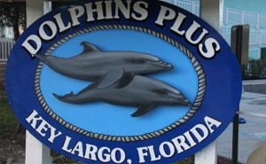Dolphins Plus Key Largo, Florida Sign